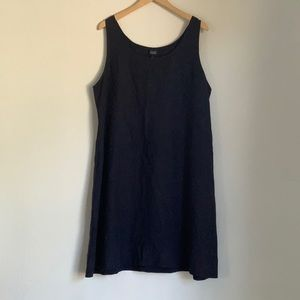 EILEEN FISHER any blue linen smock dress